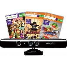Microsoft Xbox 360 Сенсор Kinect + 3 игры