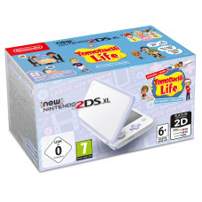 Игровая приставка New Nintendo 2DS XL (Белый + Лавандовый) + Tomodachi Life