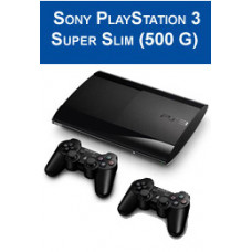 Игровая приставка Sony Playstation 3 (PS3) Super Slim 500 ГБ + DualShock 3