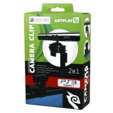 Держатель Artplays  2 в 1 для сенсора Kinect/камеры PS3 (SR-70102), черный (Xbox 360,PS3)