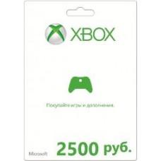 Карта оплаты Microsoft Xbox LIVE 2500 рублей