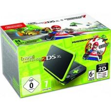 Игровая приставка New Nintendo 2DS XL (Черный-Лаймовый) + Игра Mario Kart 7