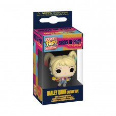 Брелок Funko Pocket POP! Keychain: Birds of Prey: Harley Quinn (Caution Tape) 44380-PDQ