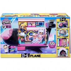 Игровой набор MGA Entertainment L.O.L. OMG Remix Самолет трансформер 4 в 1 50+ сюрпризов (571339)