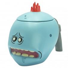 Кружка 3D с крышкой Rick & Morty Mr. Meeseeks 450 ml ABYMUG675