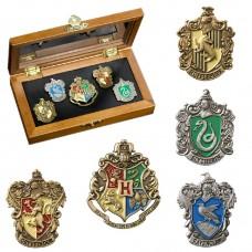 Значок Гарри Поттер Гербы - набор из 5 шт