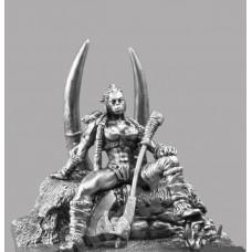 Фигурка оловянная Орчанка на троне (Gm-13b РН)