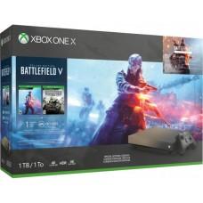 Игровая приставка Microsoft Xbox One X 1 ТБ Gold Rush Special Edition
