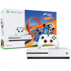 Игровая приставка Microsoft Xbox One S 500 ГБ + Forza Horizon 3 + DLC Hot Wheels + Game Pass
