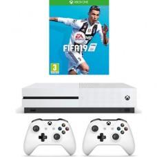Игровая приставка Microsoft Xbox One S 500 ГБ + FIFA 19 + Геймпад