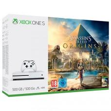 Игровая приставка Microsoft Xbox One S 500 ГБ + Assassin's Creed Истоки