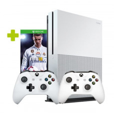 Игровая приставка Microsoft Xbox One S 500 ГБ + FIFA 18 + Геймпад