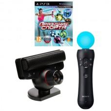 PlayStation Move: Контроллер движений PS Move + Камера PS Eye + диск Праздник спорта (Первый выпуск. Русская версия)