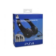 4gamers Комплект Stereo Gaming Heatset Starter Kit (гарнитура стерео + двойной кабель) (PS4)