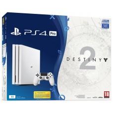 Игровая приставка Sony PlayStation 4 Pro 1 ТБ White (Белая) + Destiny 2