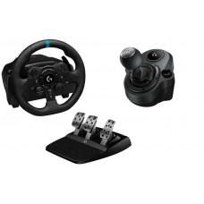 Руль Logitech G G923 TRUEFORCE + коробка передач Driving Force Shifter (PS3 / PS4 / PS5 / PC)