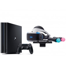 Игровая приставка Sony PlayStation 4 Pro 1 ТБ (CUH-7116B) + Playstation VR2 + PS4 Move + Camera