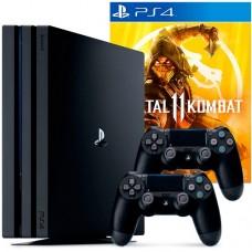 Игровая приставка Sony PlayStation 4 Pro 1 ТБ + Джойстик + Mortal Kombat 11