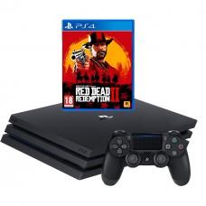 Игровая приставка Sony PlayStation 4 Pro 1 ТБ + Red Dead Redemption 2