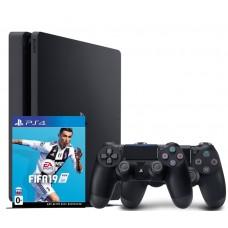 Игровая приставка Sony PlayStation 4 Slim 500 ГБ + Dualshock 4 + FIFA 19