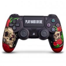 "Беспроводной геймпад Sony Dualshock 4 ""Play Hard Or Die"""