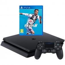 Игровая приставка Sony PlayStation 4 Slim 500 ГБ + FIFA 19