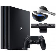 Игровая приставка Sony PlayStation 4 Pro 1 ТБ + Playstation VR + Camera