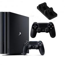 Игровая приставка Sony PlayStation 4 Pro 1 ТБ + Джойстик + Зарядное устройство