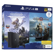 Игровая приставка Sony PlayStation 4 Pro 1 ТБ + Horizon Zero Dawn + God Of War