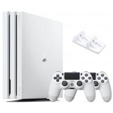 Игровая приставка Sony PlayStation 4 Pro 1 ТБ White + Джойстик + Зарядное устройство