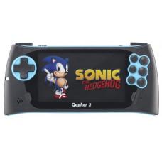 """Портативная игровая приставка SEGA Genesis Gopher 2 LCD 4.3"""" + 500 игр (синяя)"""