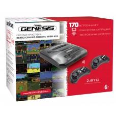Игровая приставка SEGA Retro Genesis Modern Wireless + 170 игр + 2 беспроводных джойстика