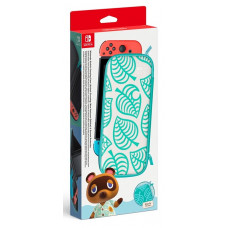 Чехол в стиле Animal Crossing: New Horizons и защитная плёнка для Nintendo Switch