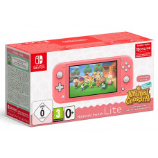 Игровая приставка Nintendo Switch Lite (кораллово-розовый) + код загрузки Animal Crossing + NSO (3 месяца)