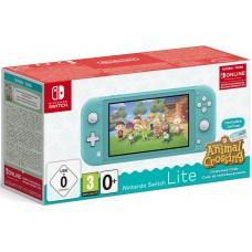 Игровая приставка Nintendo Switch Lite (Бирюзовый) + код загрузки Animal Crossing + NSO (3 месяца)