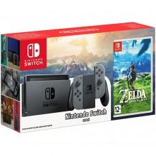 Игровая приставка Nintendo Switch (Gray) + Zelda