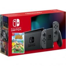 Игровая приставка Nintendo Switch (Серый) Обновленная версия + Animal Crossing: New Horizons