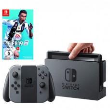 Игровая приставка Nintendo Switch (Серый) Обновленная версия + Fifa 19