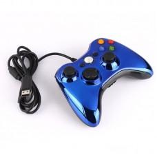 Проводной геймпад Xbox 360 (Chrome Blue)