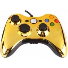 Проводной геймпад Xbox 360 (Chrome Gold)
