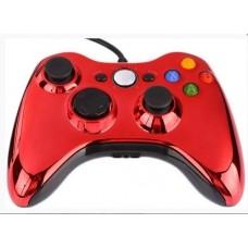 Проводной геймпад Xbox 360 (Chrome Red)