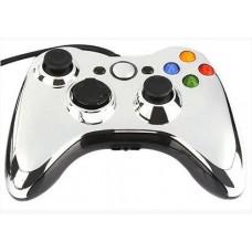 Проводной геймпад Xbox 360 (Chrome Silver)