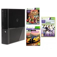 Игровая приставка Microsoft Xbox 360 E 500 ГБ + Kinect + Kinect Sports + Forza + Kinect Adventures